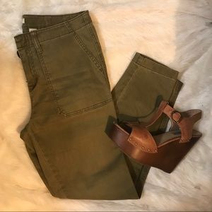 Crop Army Pants - Stretch